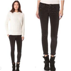 Free People Velvet Polka Dot Skinny Crop pants 27